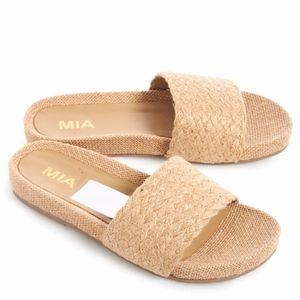 Mia woven slide sandals